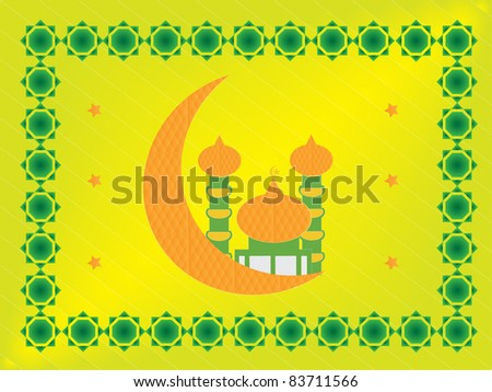 colorful mosque background