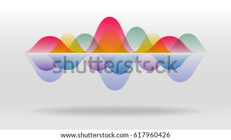 colorful motion sound wave