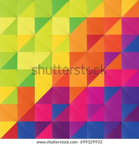 Colorful multi-colored triangles3D pattern. Abstract colorful backgropund