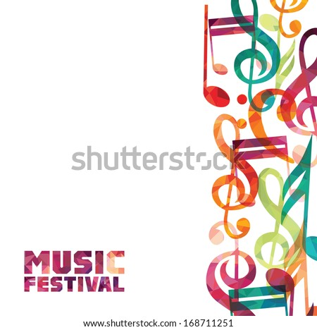Colorful music background.