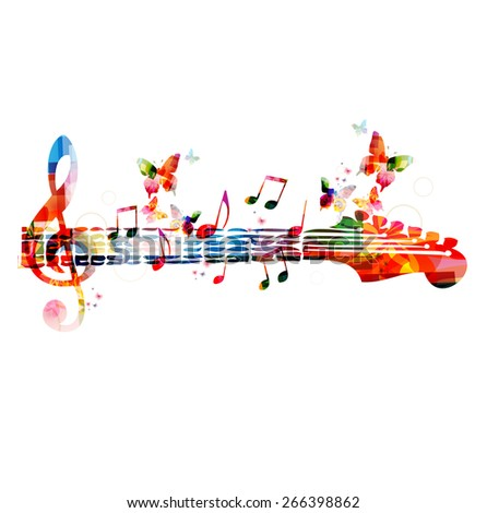 colorful music design with