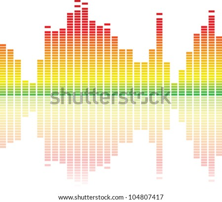 colorful music equalizer on white background