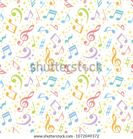 colorful music notes background. Foto stock ©