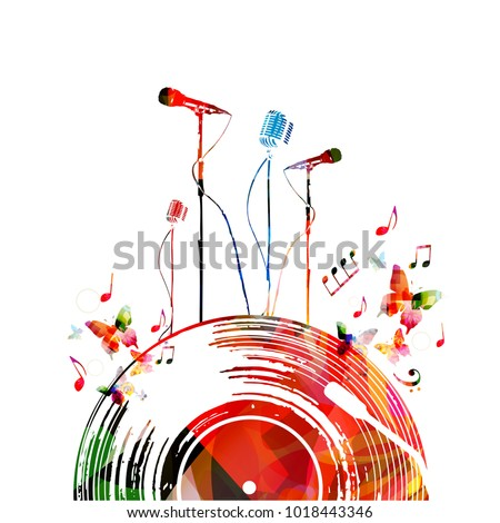 colorful music poster with