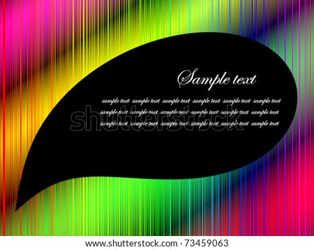 Colorful neon background with tear shaped copy space. Also available as jpeg.