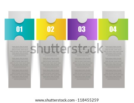 colorful number option banner