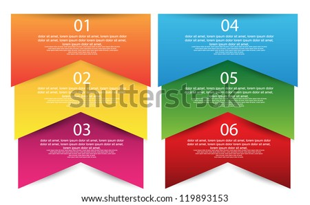 colorful number option banner