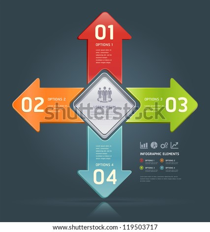 Colorful Number Options Banner template. Vector illustration