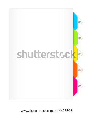 Colorful Numbered Bookmarks