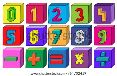 colorful numbers from 0 to 9
