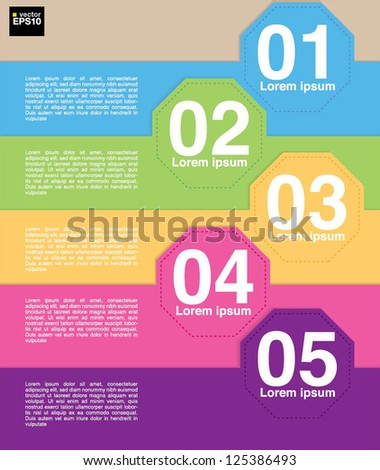 Colorful octagon banner template vector.EPS10
