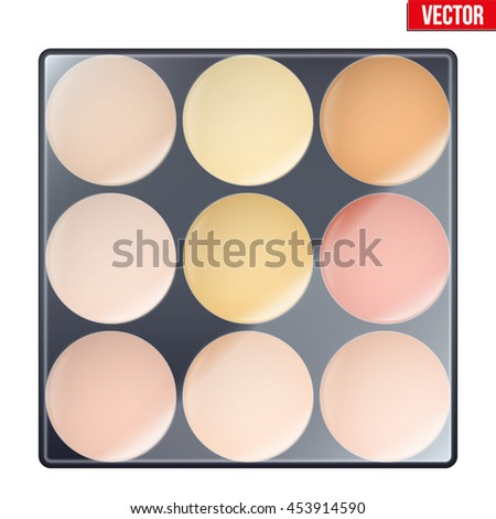 colorful of make up palette