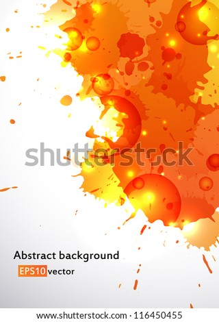 Colorful orange blots as a cool abstract background. EPS10 vector.