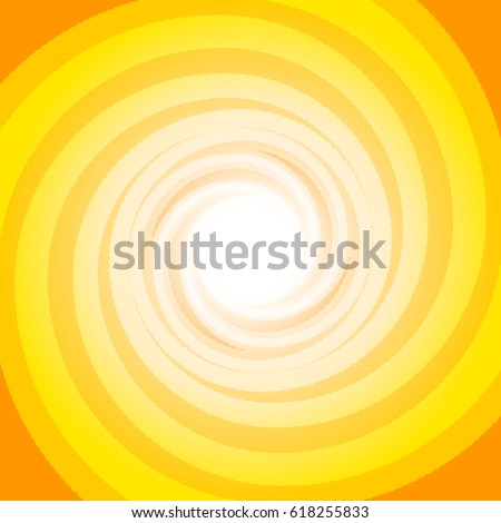Colorful orange swirling cyclone background with space for text in center for abstract design concept