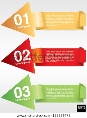 Colorful origami banner template vector.EPS10