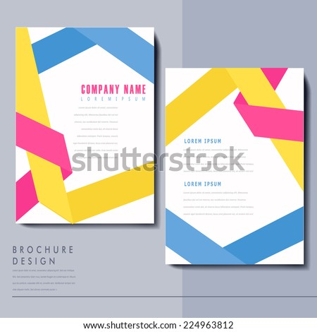 colorful origami folded lines background design for poster