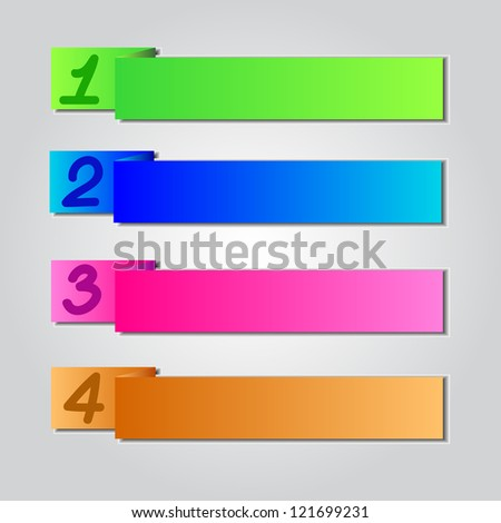 Colorful Origami Style Number Banner & Card