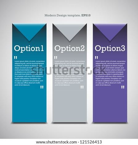 Colorful Origami Style Number Options Banner Modern Design for you website. vector