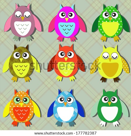colorful owls #177782387