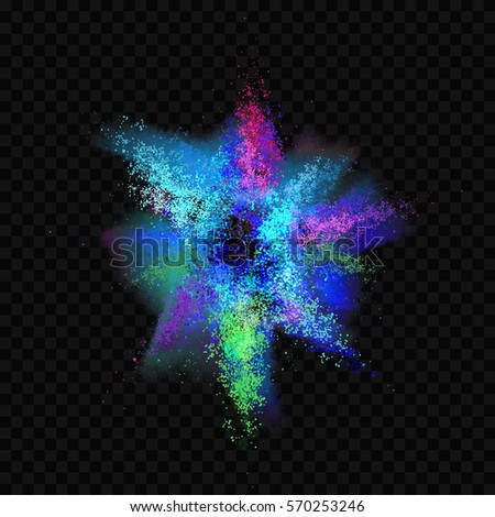 Colorful Paint Explosion vector illustration. Color Burst isolated on a transparent background. EPS 10