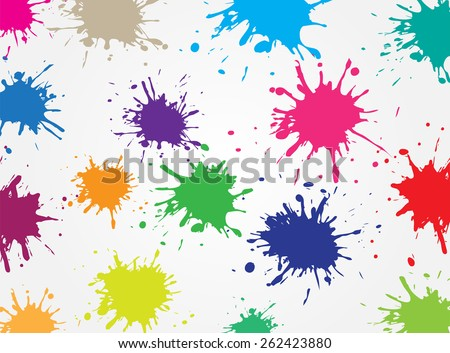 Shutterstock Colorful paint splat.Paint splashes background.Vector illustration.