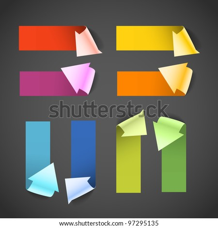 colorful paper arrow banners