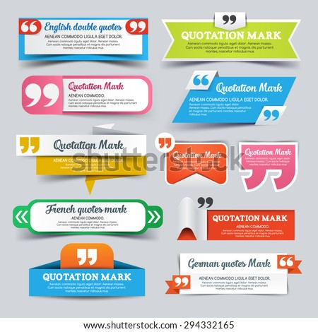 Colorful paper speech banners for quote.