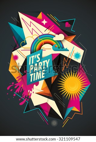 colorful party background with