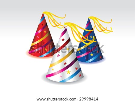Colorful Party Hat Colorful Party Hats