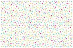 Colorful pastel polka dots vector on white background. Abstract wallpaper texture for web design or banner social media advertising. lovely sweet backdrop
