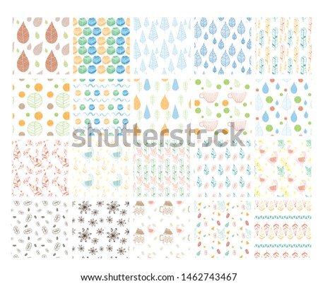 Colorful pattern collection set vector