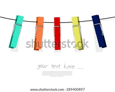 Colorful peg set Vector illustration isolated on white background ストックフォト ©
