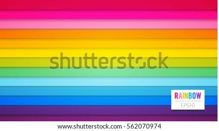 colorful perspective rainbow