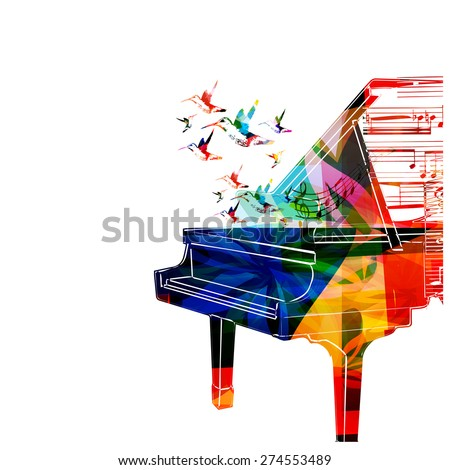 colorful piano design with