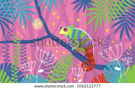 colorful pink illustration with