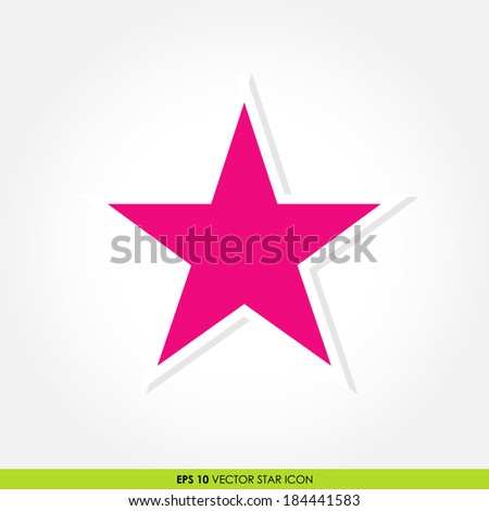 colorful pink star vector icon