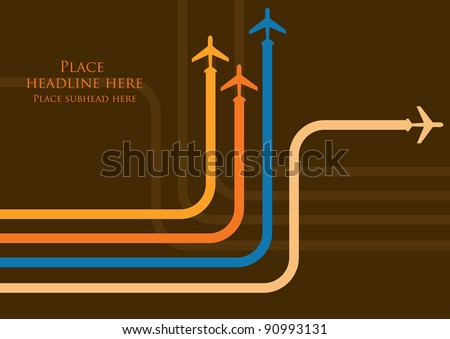 colorful planes vector/illustration - stock vector