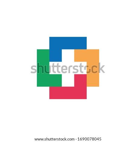Colorful Plus Logo Template Design