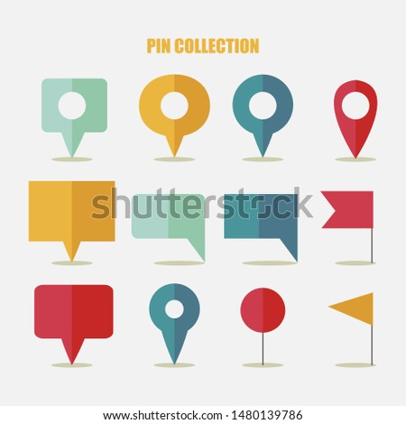 Colorful pointers with various shapes - vector
