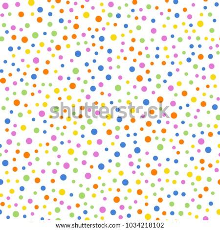 colorful polka dots seamless