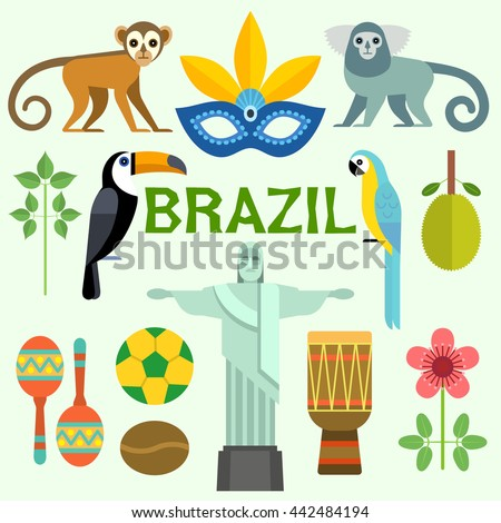 colorful poster with symbols of