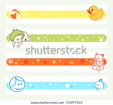 Colorful pregnancy tickers
