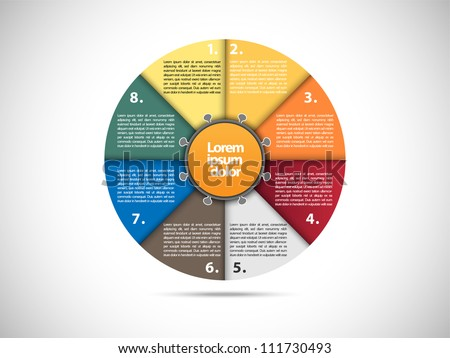 Colorful presentation circle