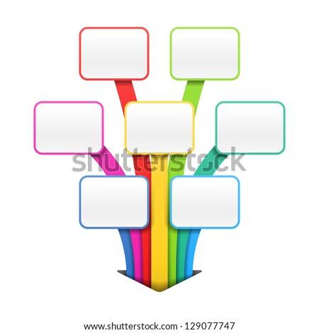 Colorful presentation or design template. Vector. - stock vector
