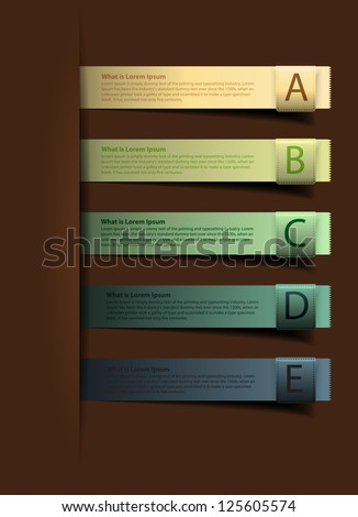 Colorful presentations with alphabets banners