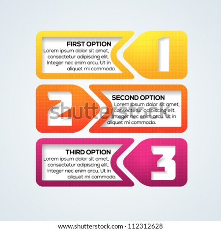 Colorful progress template for your design. Vector illustration.