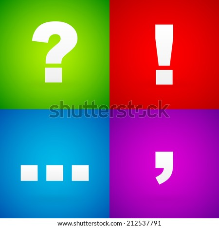 colorful punctuation mark
