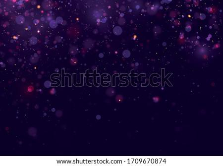 colorful purple bokeh effect
