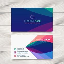 colorful purple stylish business card template design