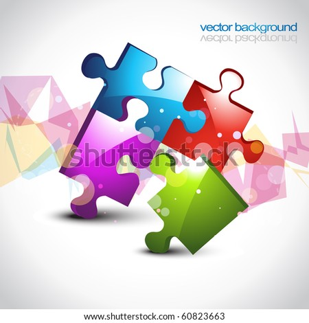 colorful puzzle eps10 vector artwork design background